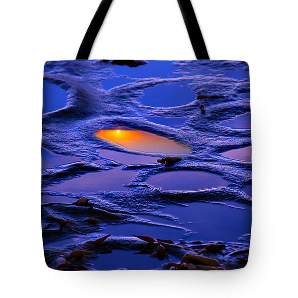 Sunset In Tide Pools Tote Bag