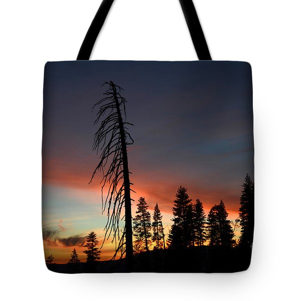 Sunset In Yosemite Tote Bag by Debra Thompson