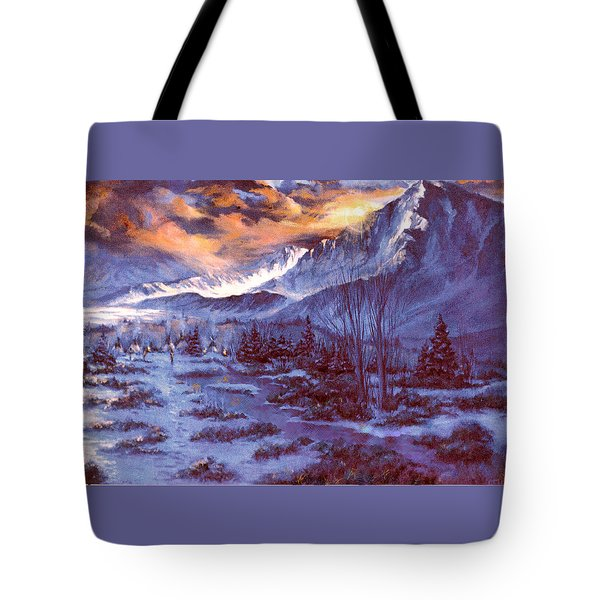 Sunset Indian Village Tote Bag by Donna Tucker
