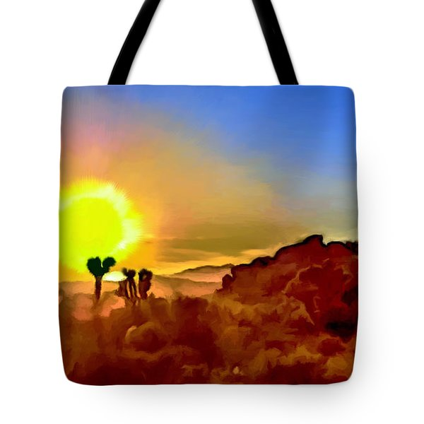 Sunset Joshua Tree National Park V2 Tote Bag