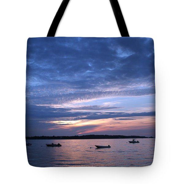 Tote Bag featuring the photograph Sunset by Karen Silvestri