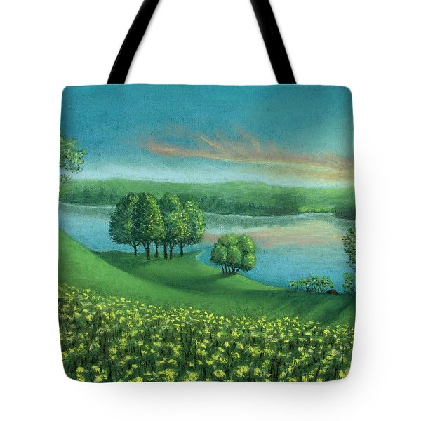 Sunset Lake A Tote Bag