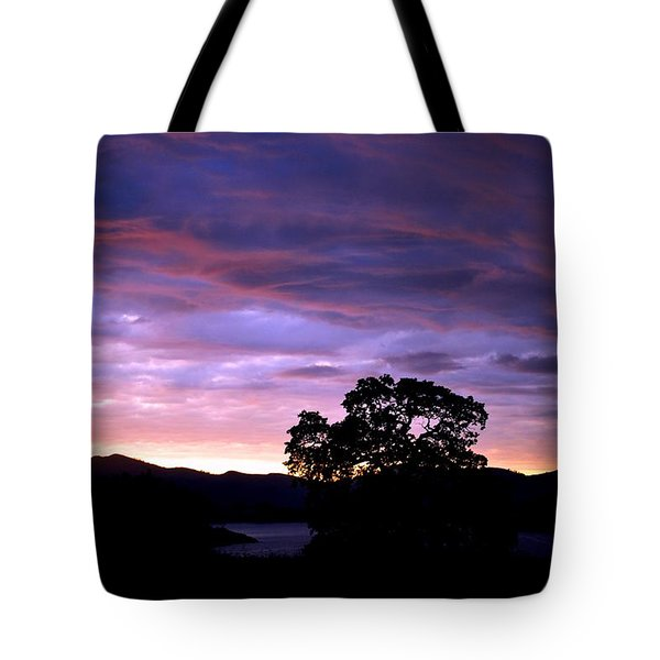 Tote Bag featuring the photograph Sunset Lake by Matt Harang