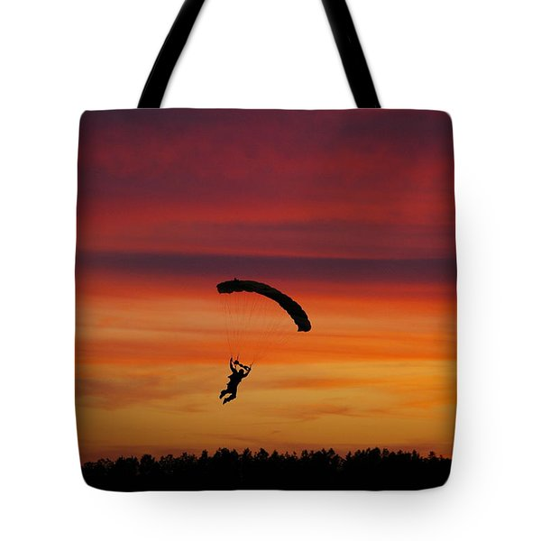 Sunset Landing Tote Bag