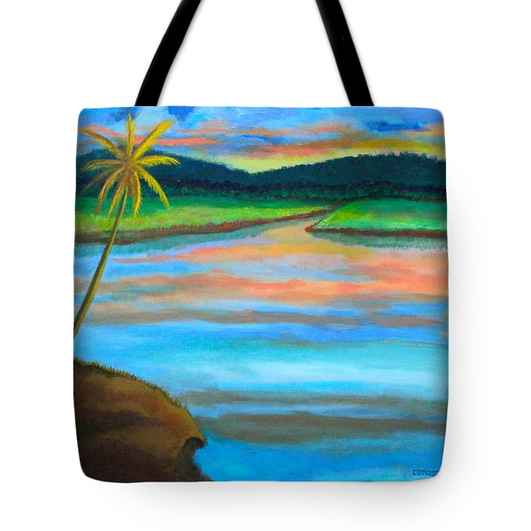 Sunset  Tote Bag by Lorna Maza