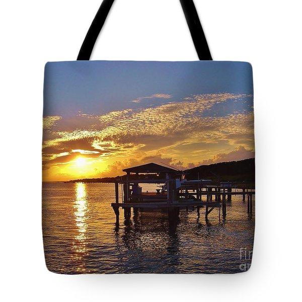 Sunset At Morehead City Nc Tote Bag