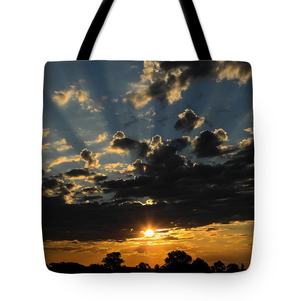 Dark Sunset Tote Bag by Mark Blauhoefer