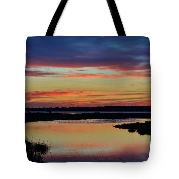 Sunset Marsh Tote Bag