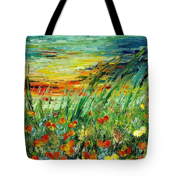 Sunset Meadow Series Tote Bag