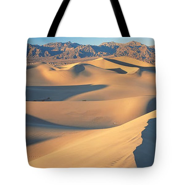 Sunset Mesquite Flat Dunes Death Valley Tote Bag