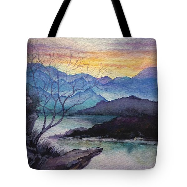 Sunset Montains Tote Bag