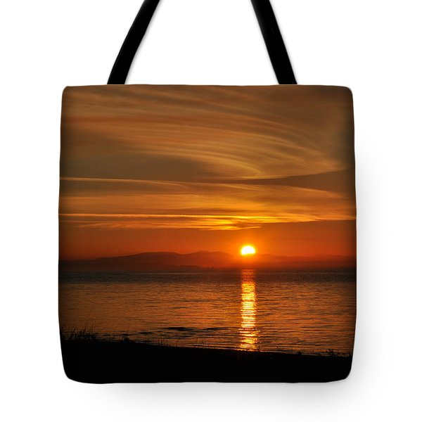 Tote Bag featuring the photograph Sunset Mood by Sabine Edrissi