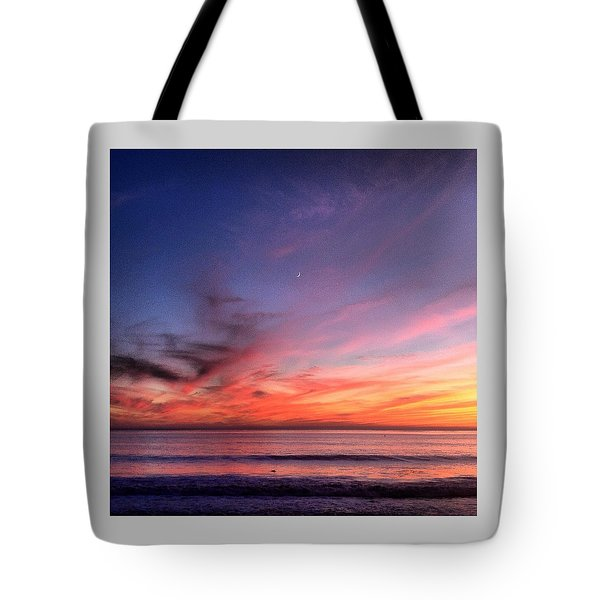 Sunset Moon Rise Tote Bag