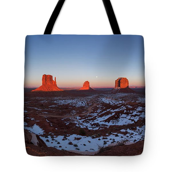 Sunset Moonrise Tote Bag