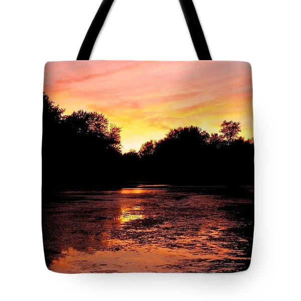 Tote Bag featuring the photograph Sunset Near Rosemere - Qc by Juergen Weiss
