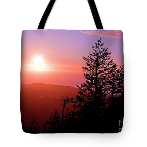 Sunset Off Mt Erie Washington Art Prints Tote Bag