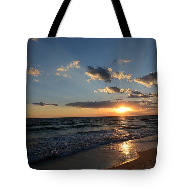 Sunset On Alys Beach Tote Bag by Julia Wilcox