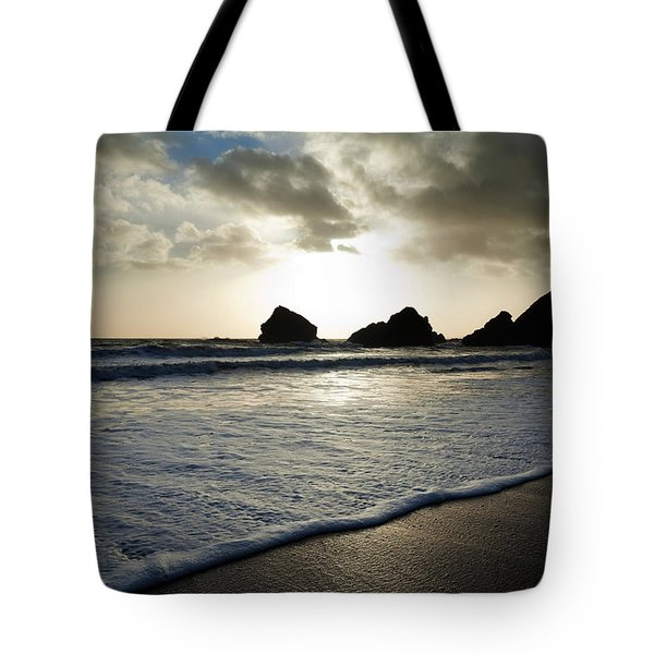 Sunset On Ballydowane Beach, Bunmahon Tote Bag