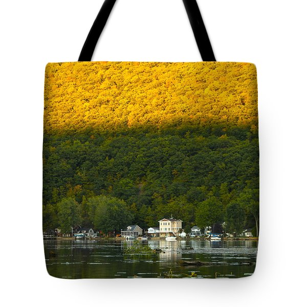 Sunset On Canandaigua Lake Tote Bag by Steve Clough