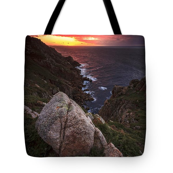 Tote Bag featuring the photograph Sunset On Cape Prior Galicia Spain by Pablo Avanzini