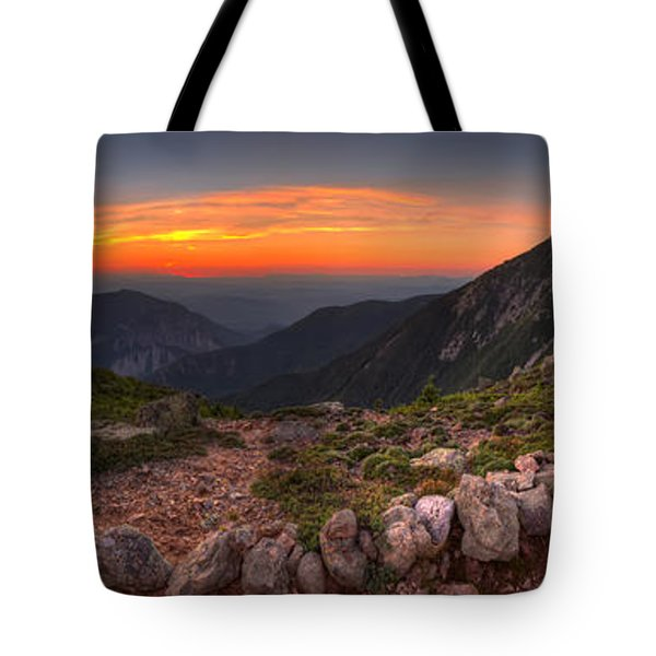 Sunset On Franconia Ridge Tote Bag
