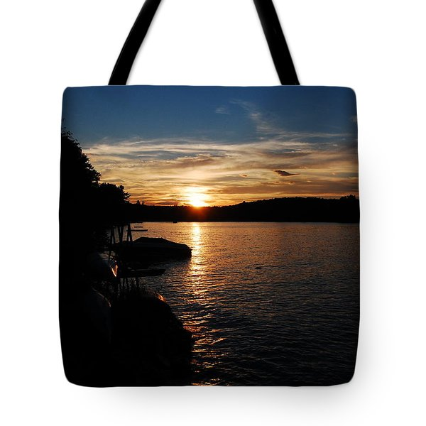 Tote Bag featuring the photograph Sunset On Halfmoon by Mim White