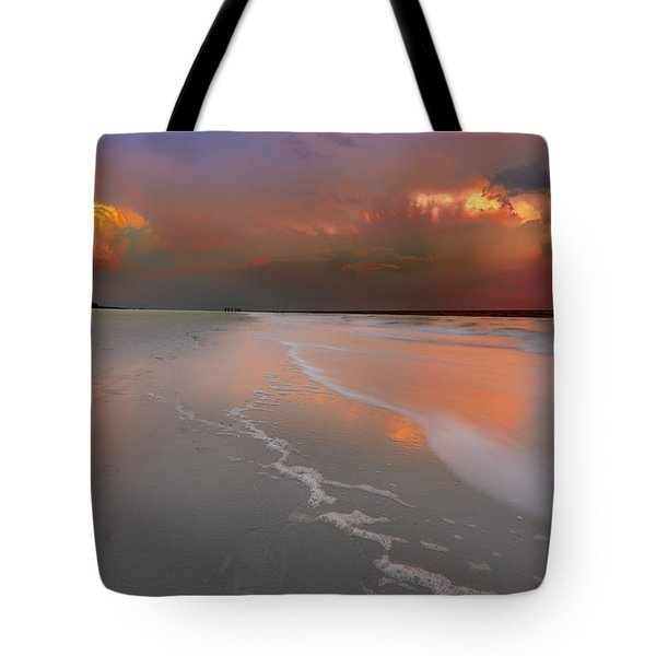Sunset On Hilton Head Island Tote Bag