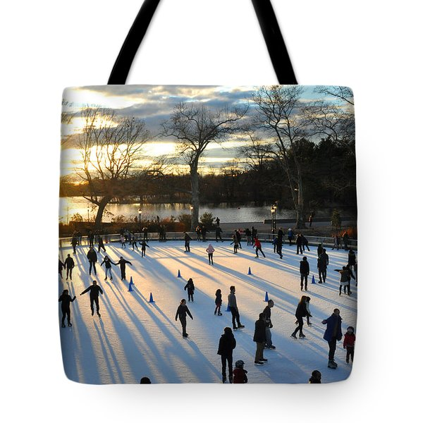 Sunset On Ice  Tote Bag