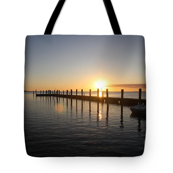 Sunset On Key Largo Tote Bag by Christiane Schulze Art And Photography