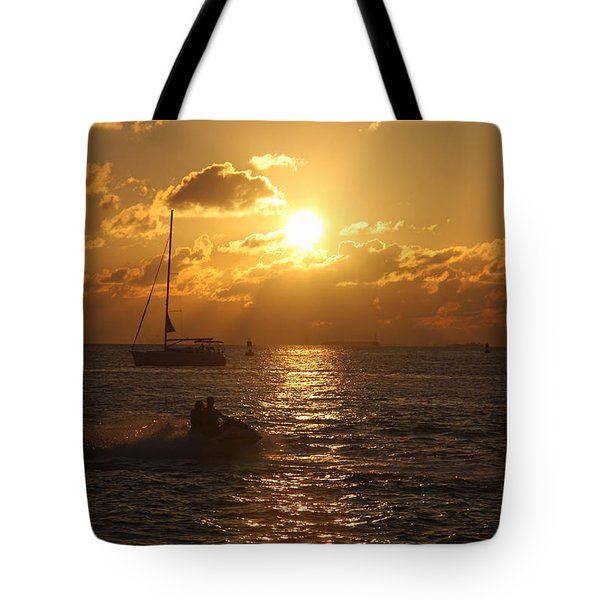 Tote Bag featuring the photograph Sunset Over Key West by Christiane Schulze Art And Photography