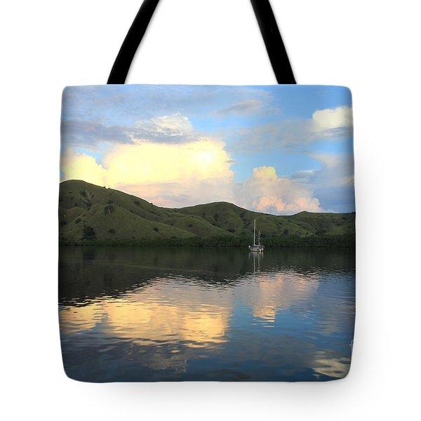 Sunset On Komodo Tote Bag by Sergey Lukashin