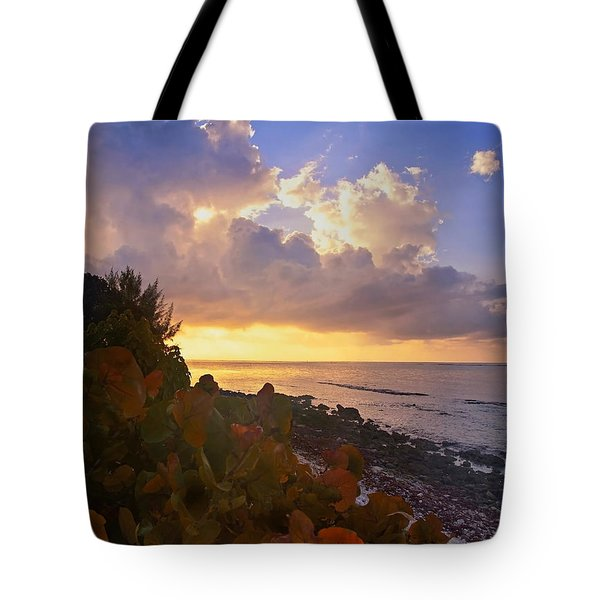 Sunset On Little Cayman Tote Bag by Stephen Anderson
