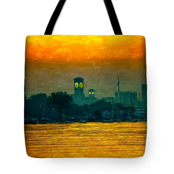 Sunset On Milwaukee's South Side  Tote Bag