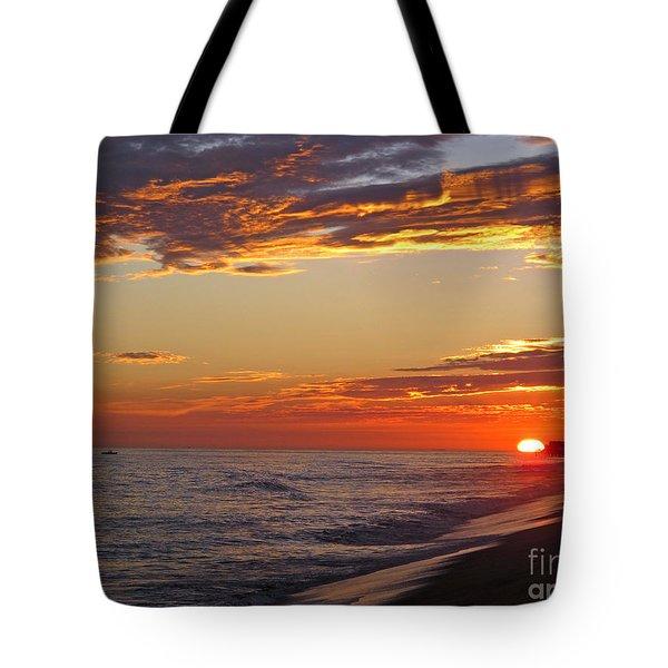 Sunset On Newport Beach Tote Bag