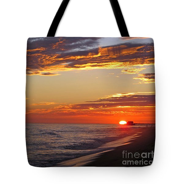 Sunset On Newport Beach Tote Bag
