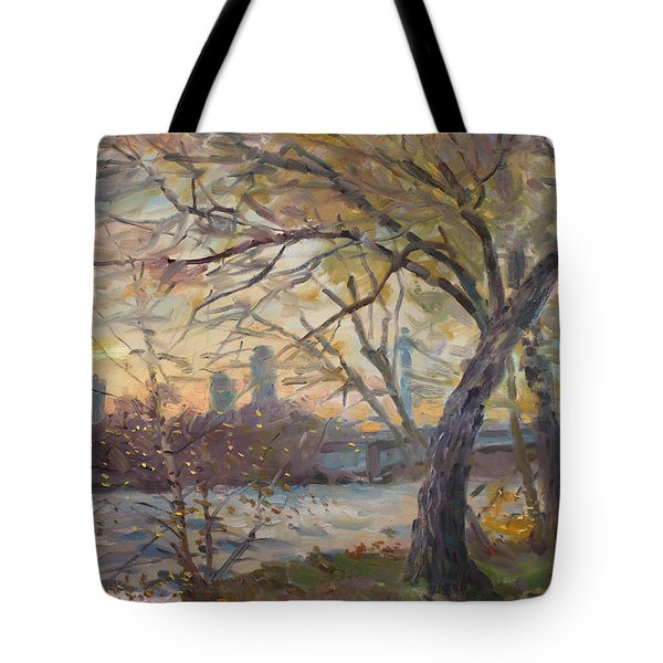 Sunset On Niagara River  Tote Bag by Ylli Haruni