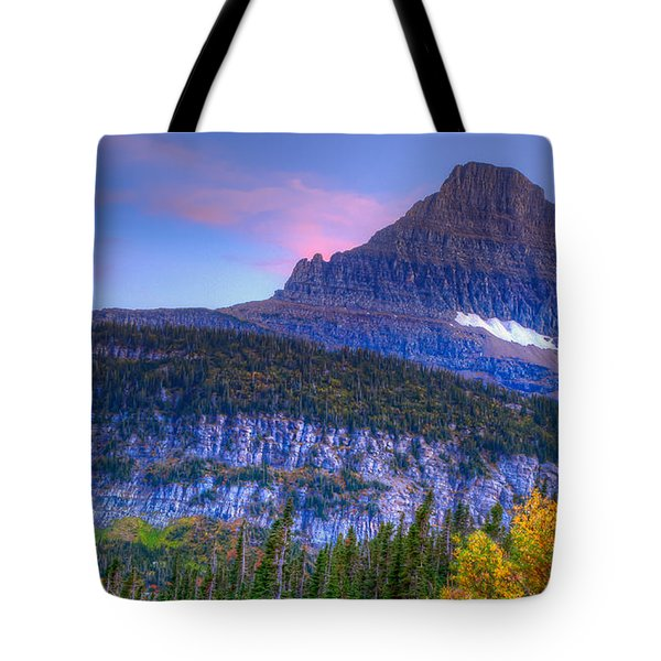 Sunset On Reynolds Mountain Tote Bag