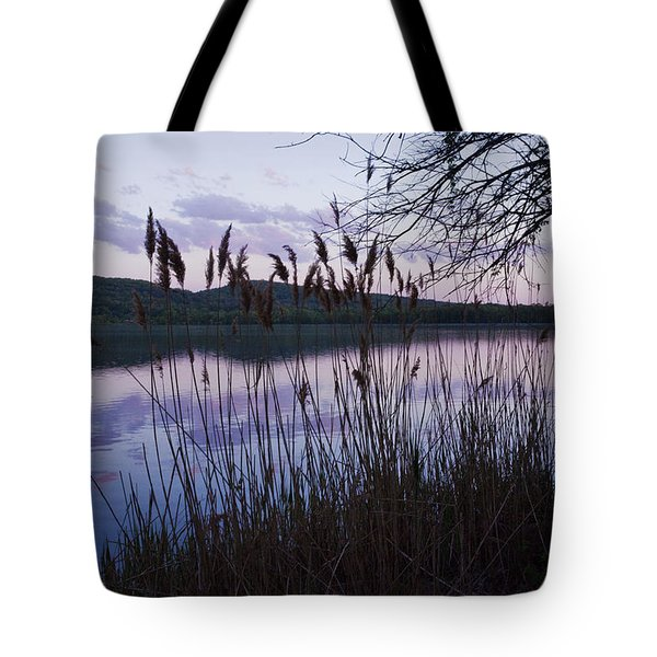 Sunset On Rockland Lake - New York Tote Bag by Jerry Cowart