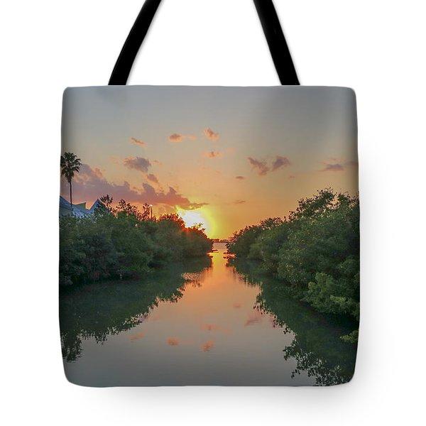 Sunset On Sarasota Bay Tote Bag