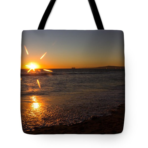 Sunset On Sunset Beach Tote Bag by Heidi Smith