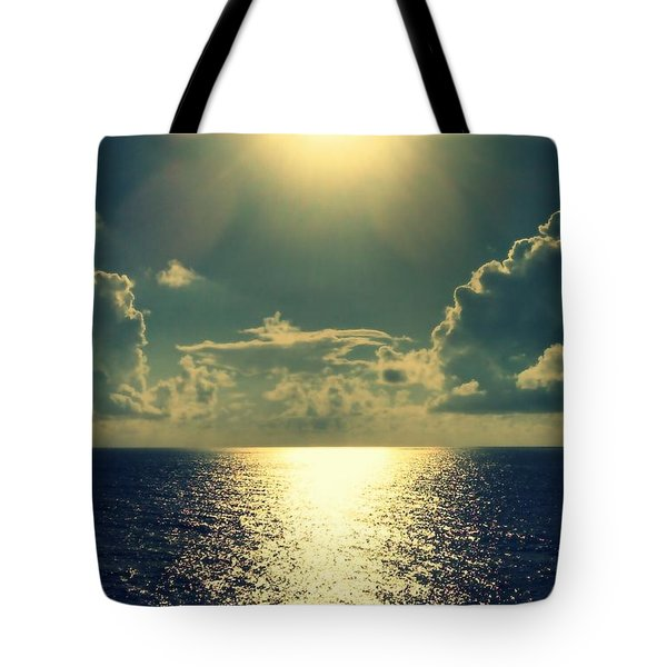 Sunset On The Atlantic Ocean Tote Bag