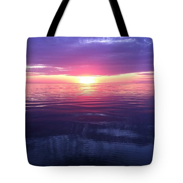 Tote Bag featuring the photograph Sunset On The Bay by Tiffany Erdman