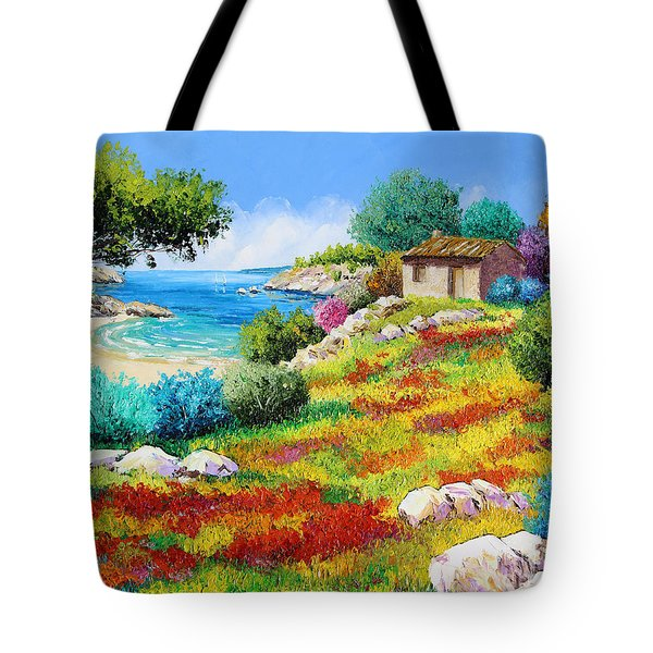 Sunset On The Beach Tote Bag by Jean-Marc Janiaczyk