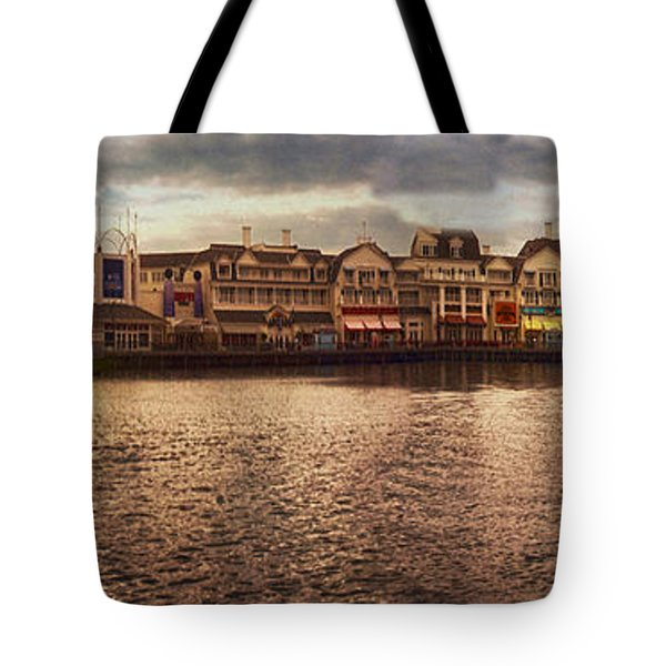 Sunset On The Boardwalk Walt Disney World Tote Bag