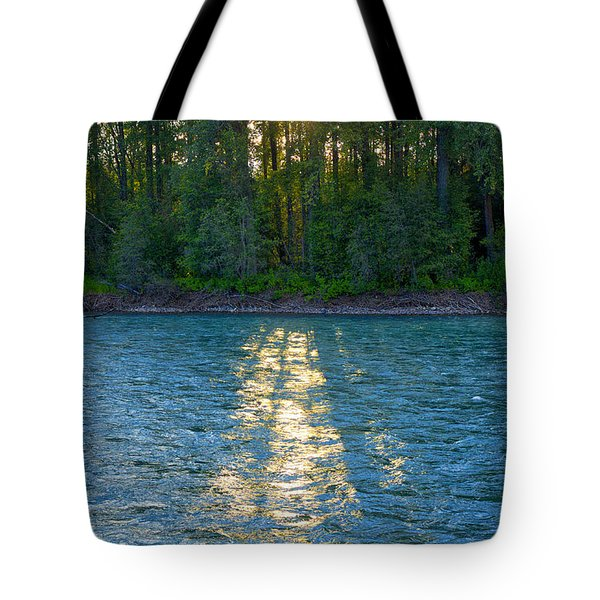 Sunset On The Bulkley Tote Bag