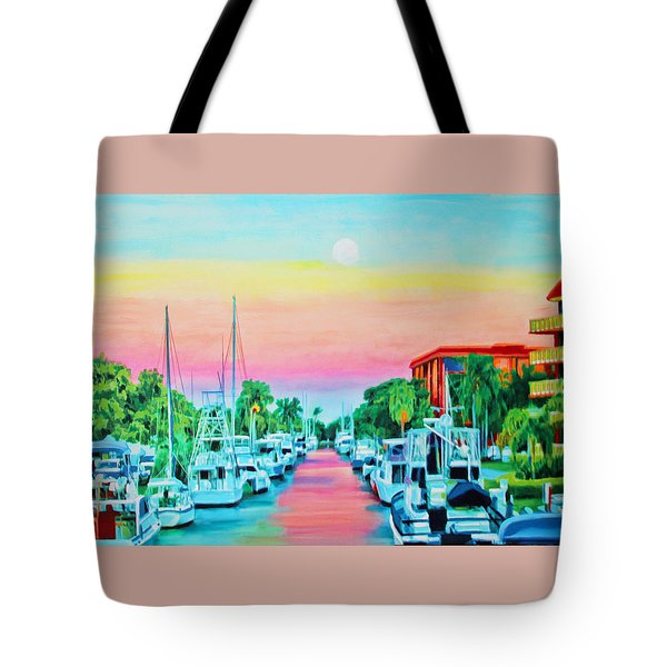 Sunset On The Canal Tote Bag
