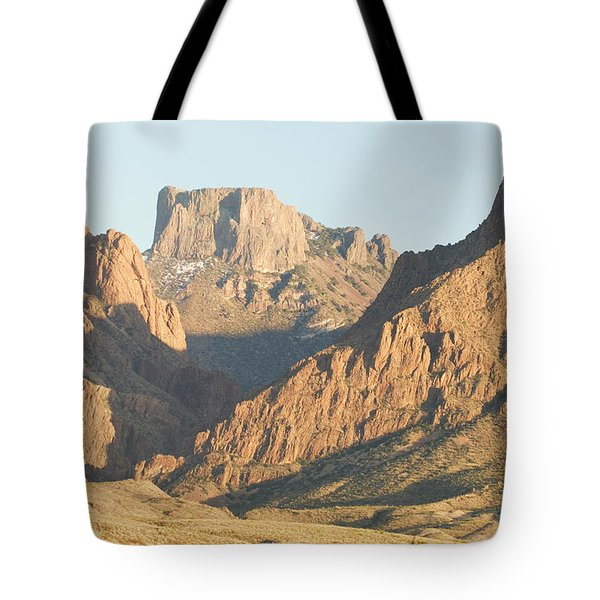 Sunset On The Chisos Mountains Tote Bag