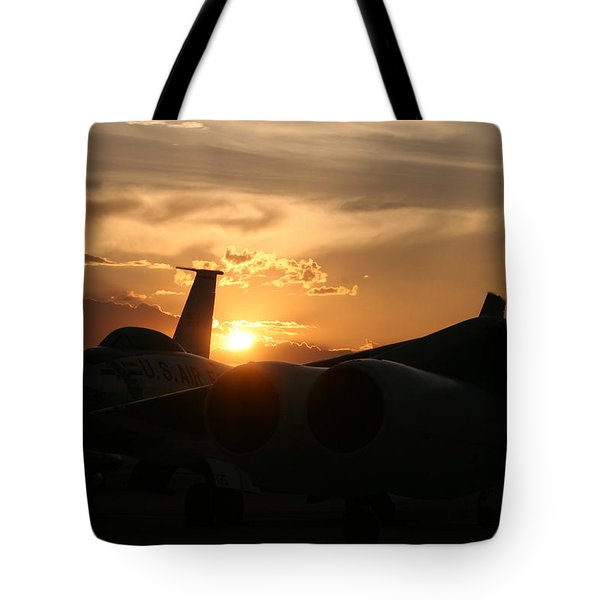 Sunset On The Cold War Tote Bag by David S Reynolds