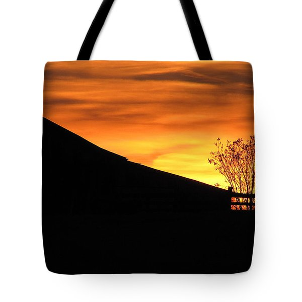 Tote Bag featuring the photograph Sunset On The Farm by Greg Simmons