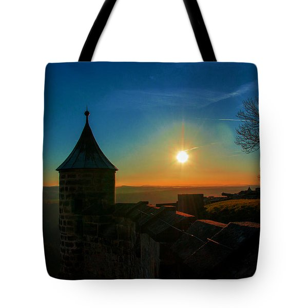 Sunset On The Fortress Koenigstein Tote Bag